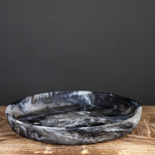 Load image into Gallery viewer, Black Swirl Resin Round Platter, Medium