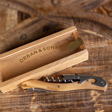 Load image into Gallery viewer, Orban & Sons Corkscrew - Olivewood