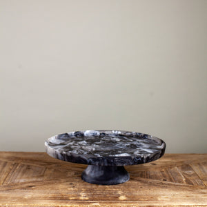 Black Footed Resin Cake Stand Lg
