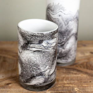 Marbled Glass cylinders