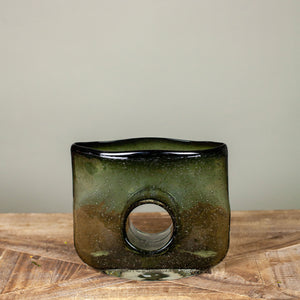 Bliss Smoke Rectangle Vase