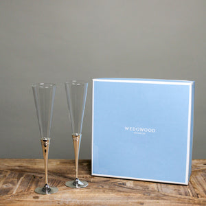 Wedgwood Simply Wish toasting flutes