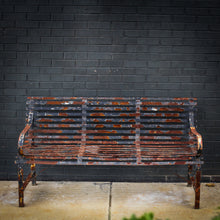 Load image into Gallery viewer, Vintage Strap Bench - 3-seat