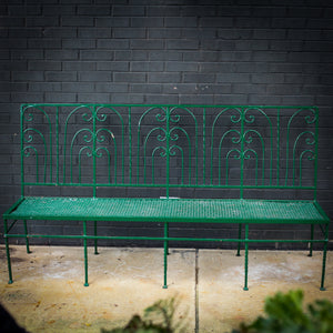 Armless French Iron Bench