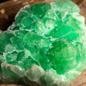 Green Fluorite Crystal