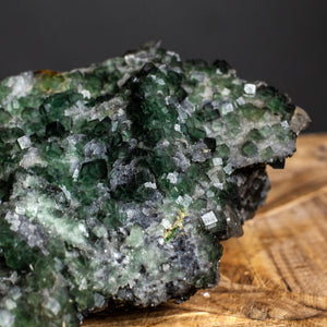 Natural Cube Form Dark Green Fluorite