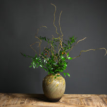 Load image into Gallery viewer, Ikebana Vase, Textured With Soft Green Detail