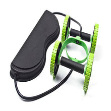 Load image into Gallery viewer, Abdominal wheel multi-functional double wheel pull rope abdominal muscle wheel stretcher push-up wheel abdominal wheel home fitness equipment