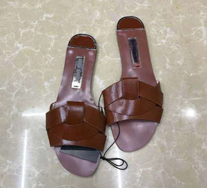 Classic imitation genuine leather sandal for women, casual shoes for women