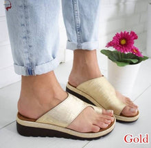 Load image into Gallery viewer, Classic imitation genuine leather sandal for women, casual shoes for women