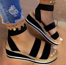Load image into Gallery viewer, Platform Sandals for women, casual shoes for women fabric