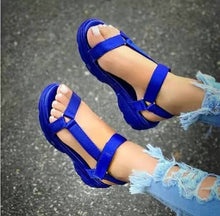 Load image into Gallery viewer, Women shoes double straps buttom sandals PVC lady outdoor women multi color