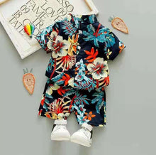 Load image into Gallery viewer, Cute Baby Boy haweian set..shirt and short for kids. 2 - 6 Years