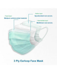 Masks 3ply 10PCS BOX - MutualCH