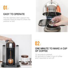 Load image into Gallery viewer, iCafilas Vip Link Stianless Steel Reusable Big CUP For Nespresso Vertuo Coffee Capsule Filter Espresso Vertuoline