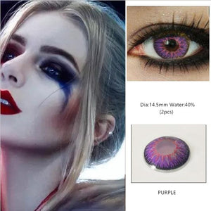 EYESHARE 1 Pair  Beautiful Pupil  Eye Cosmetic Colorful Contact Lenses Halloween Cosplay Lenses Crazy Lens for Eyes