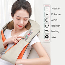 Load image into Gallery viewer, Electrical Massage Shiatsu Back Shoulder Body Neck Massager Multifunctional Shawl Infrared Heated Kneading Car/Home Massager