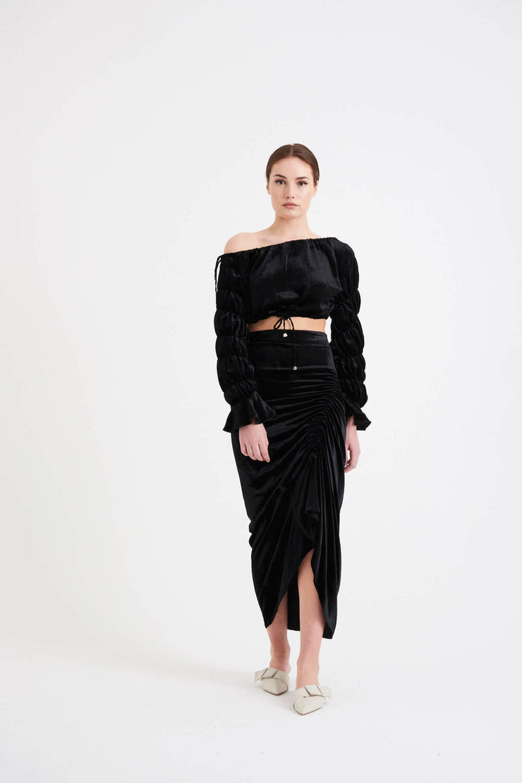 'Tanae' Crop Top | Black