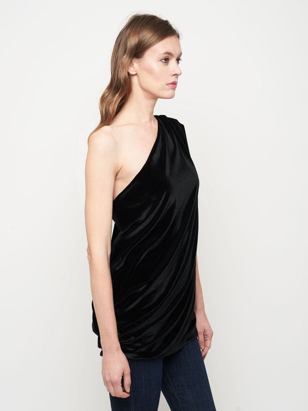 One Shoulder Sari Drape | Velvet