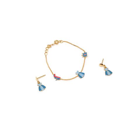 Kid Princess Bracelet and Earrings Set