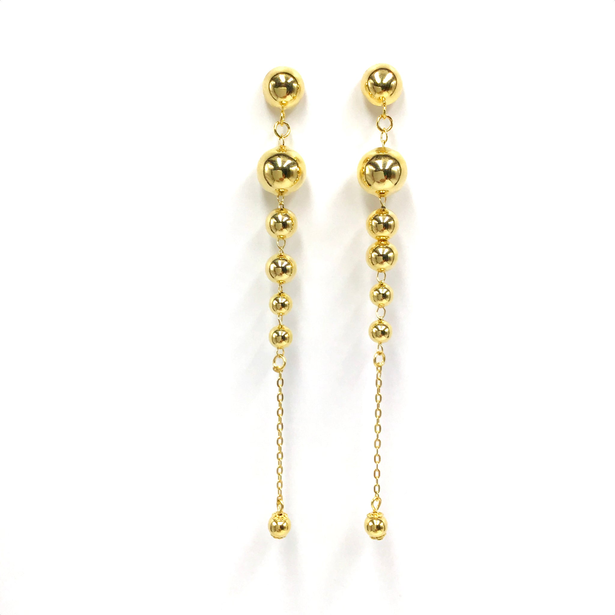 Gold Cascade Drop Earrings