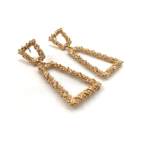 Leah Double Trapezoide Drop Earring
