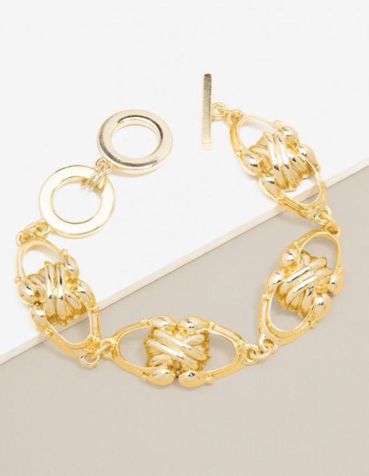 Knotty But Gold Bracelet