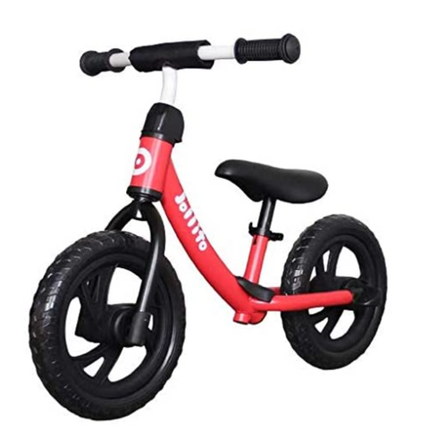 Jollito Lightweight No-Pedal Kid's Balance Bike/Air-Free Tires with Bell (2-6 Yrs)