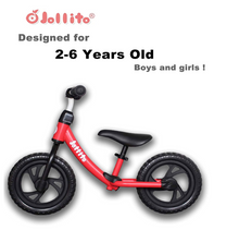 Load image into Gallery viewer, Jollito Lightweight No-Pedal Kid's Balance Bike/Air-Free Tires with Bell (2-6 Yrs)