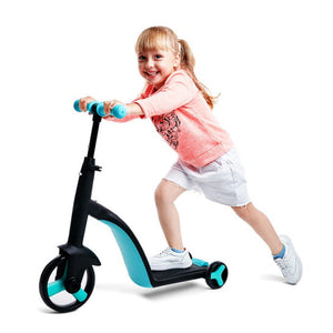 Fawn Toys 3-in-1 Junior Kick Scooter/Balance Bike/Tricycle Indoor/Outdoor Toddler Ride-On Bike Multifunctional 2-6 Yrs (Free Shipping CANADA, USA)