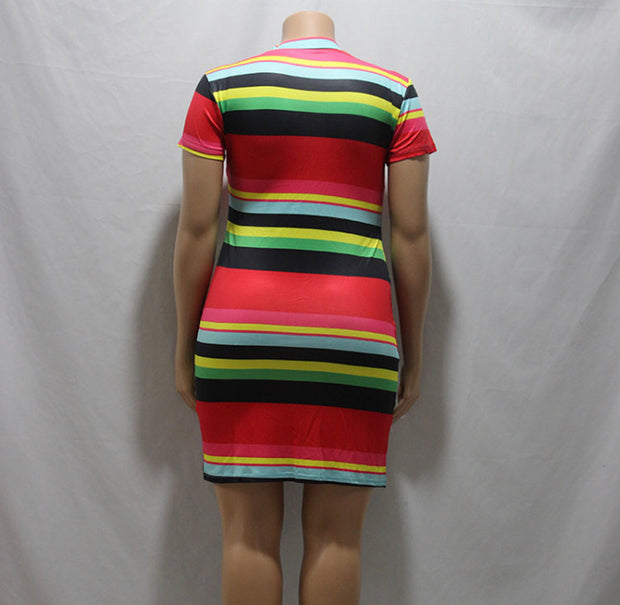 Stripe Dress - Raissa Luxury Boutique