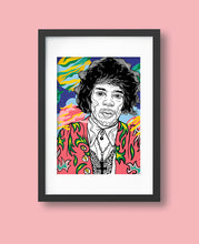Laden Sie das Bild in den Galerie-Viewer, Casiegraphics Fine Art Print Jimi Hendrix #CG06