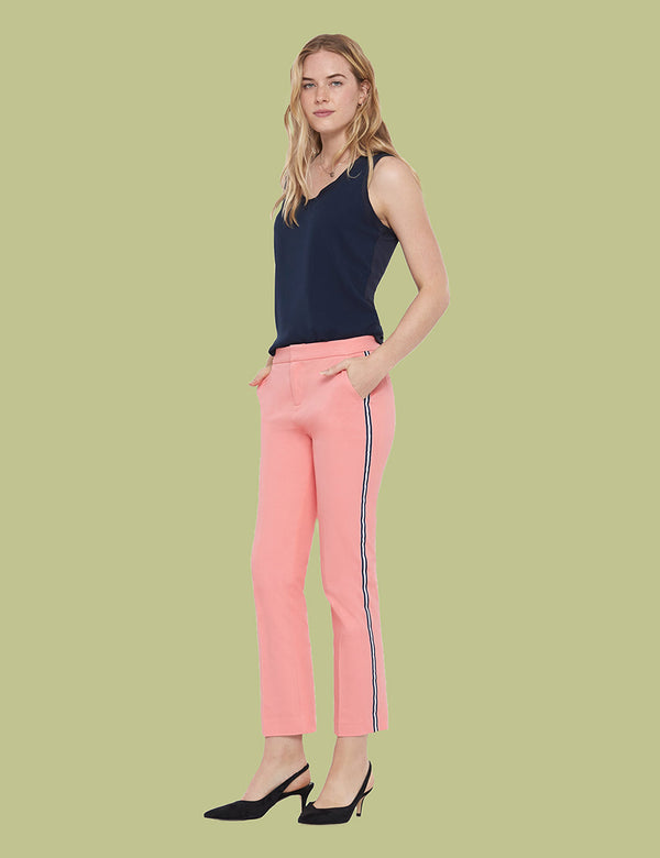 Liu Cropped Pant With Ribbon Trim