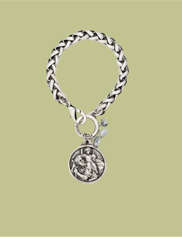 Saint Christopher Miko Medallion Bracelet