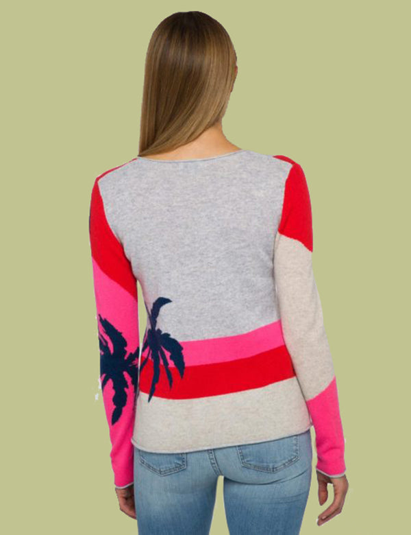 Palm Vee Cashmere Sweater