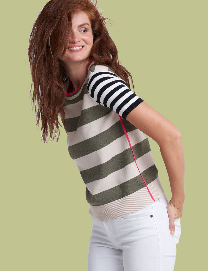 Short Stack Fun Stripe Sweater