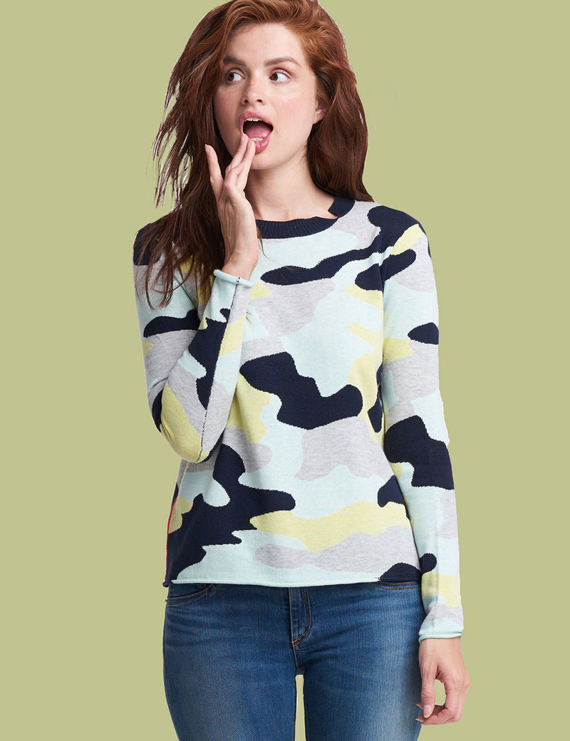Summer Camo Long Sleeve Sweater
