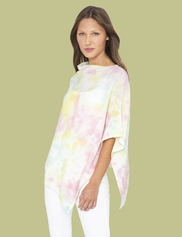 Splash Print Poncho - Citrus Multi