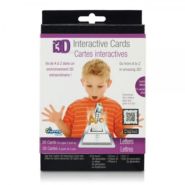 Cypher Kids Letters 3D Interactive Cards