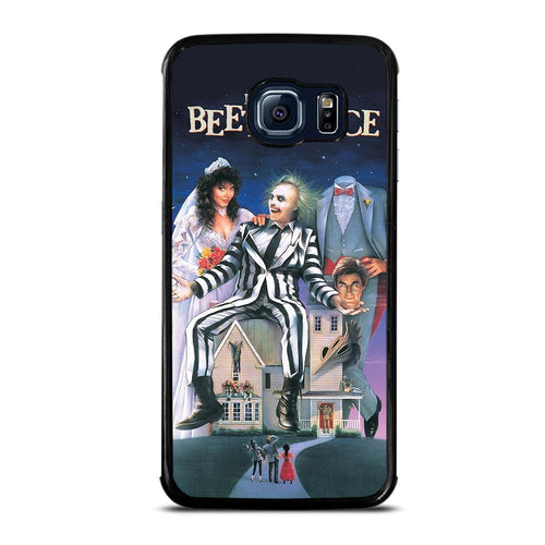 coque custodia cover fundas hoesjes j3 J5 J6 s20 s10 s9 s8 s7 s6 s5 plus edge D12185 BEETLEJUICE MOVIE TIM BURTON Samsung Galaxy S6 Edge Case