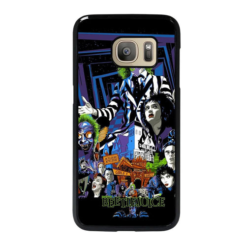 coque custodia cover fundas hoesjes j3 J5 J6 s20 s10 s9 s8 s7 s6 s5 plus edge D12168 BEETLEJUICE MOVIE TIM BURTON #1 Samsung Galaxy S7 Case
