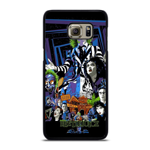 coque custodia cover fundas hoesjes j3 J5 J6 s20 s10 s9 s8 s7 s6 s5 plus edge D12167 BEETLEJUICE MOVIE TIM BURTON #1 Samsung Galaxy S6 Edge Plus Case