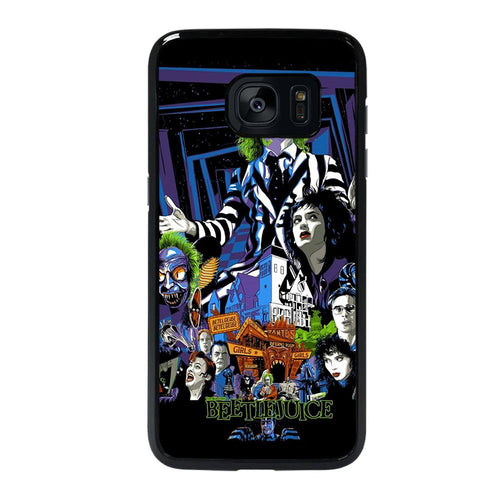 coque custodia cover fundas hoesjes j3 J5 J6 s20 s10 s9 s8 s7 s6 s5 plus edge D12169 BEETLEJUICE MOVIE TIM BURTON #1 Samsung galaxy s7 edge Case