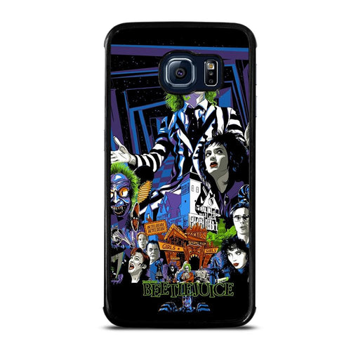 coque custodia cover fundas hoesjes j3 J5 J6 s20 s10 s9 s8 s7 s6 s5 plus edge D12166 BEETLEJUICE MOVIE TIM BURTON #1 Samsung Galaxy S6 Edge Case