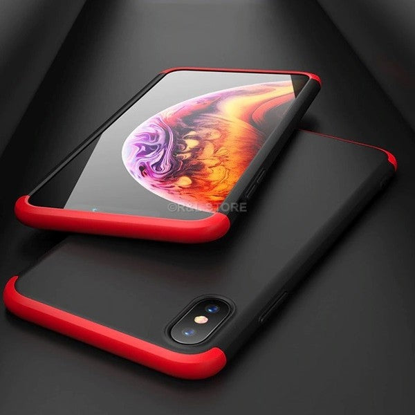 COVER CUSTODIA Per IPHONE 6 7 8 X XR XS Max FRONTE RETRO 360° VETRO TEMPERATO