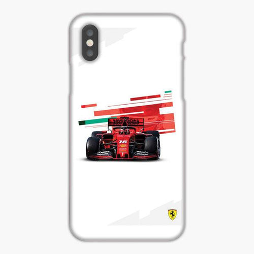 Custodia Cover iphone X XS Max XR Charles Leclerc Racing 2019