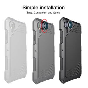 Cocoparis iPhone X Kit Custodia Impermeabile con 3 Lenti Cellulari
