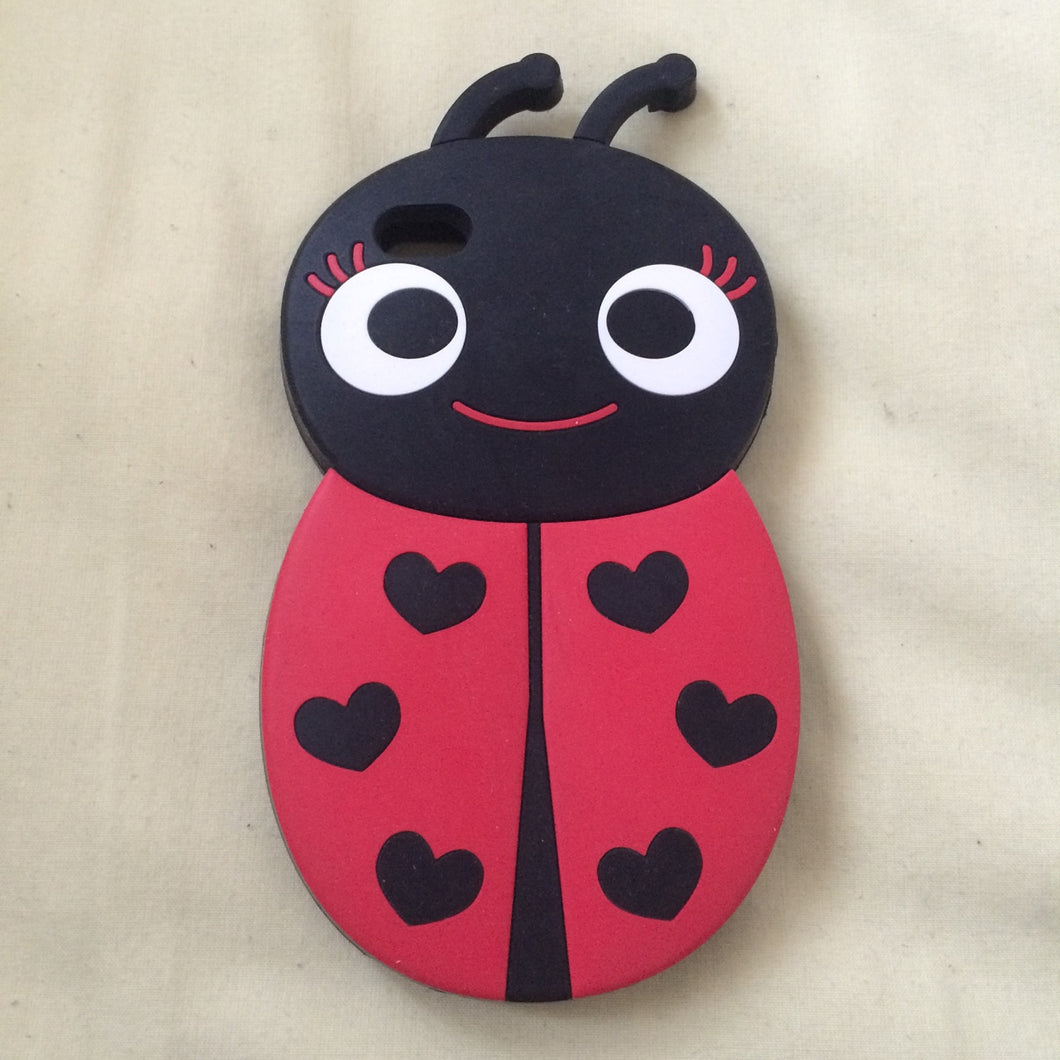 Cover iPhone 4/4s! Cover coccinella in silicone.... - Depop