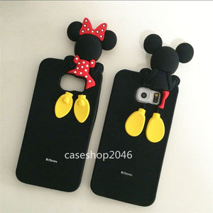 Cute 3D Disney minnie mickey soft custodia