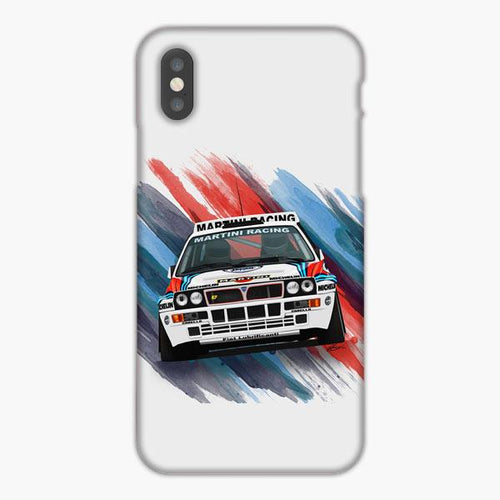 Custodia Cover iphone X XS Max XR Martini Racing Logo Lancia Delta